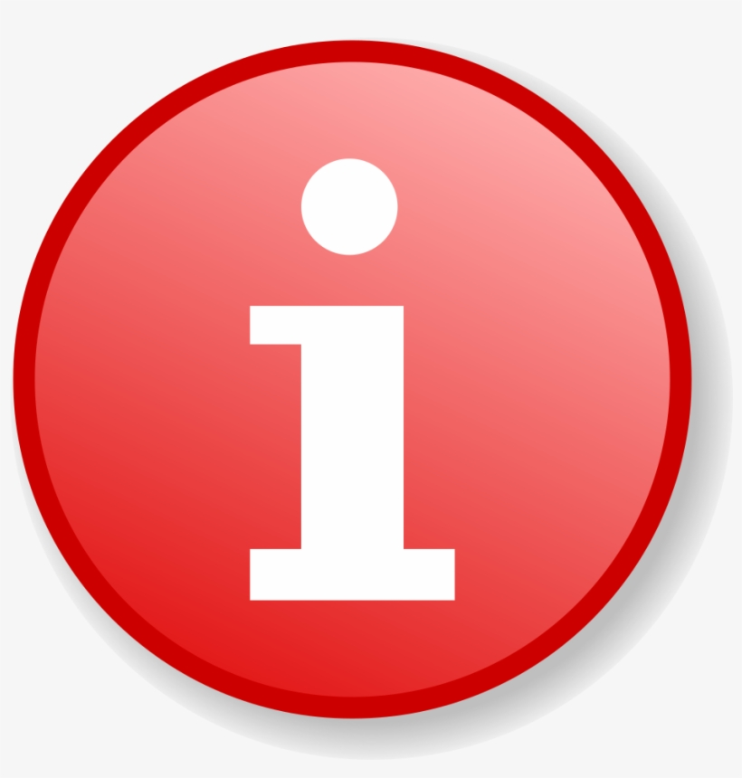 Red Information Icon With Gradient Background.