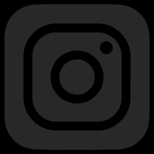 Black and white, dark grey, instagram icon.