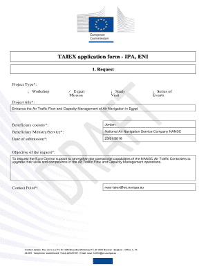 Fillable Online TAIEX application form.