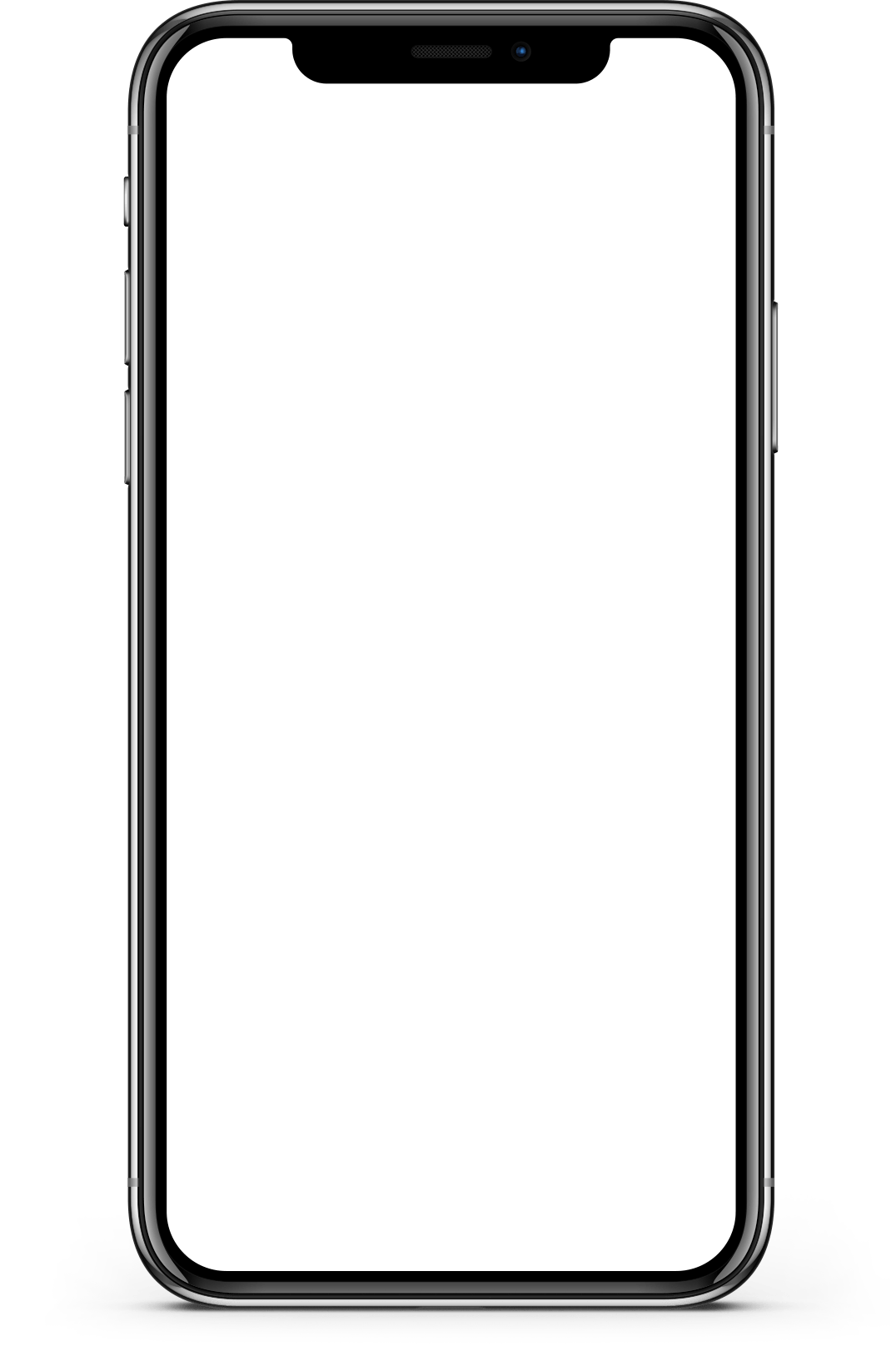 Iphone X Screen Mockup transparent PNG.