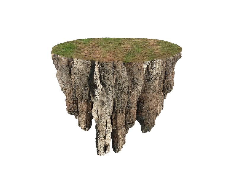 Floating Island PNG Image Free (Isolated.