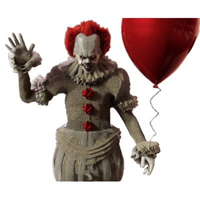 IT Pennywise With Red Balloon transparent PNG.