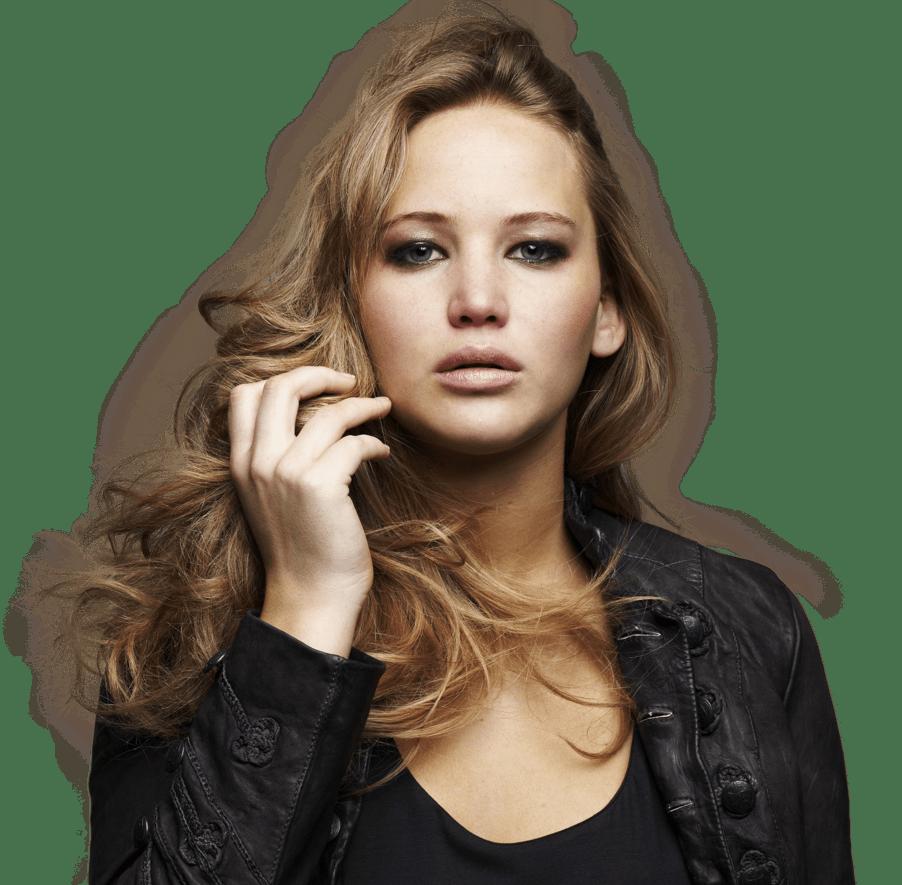 Jennifer Lawrence Face Close Up transparent PNG.