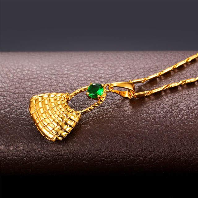 Bilum Bag Necklace&Dangle Earrings Set Gold Color Ethnic Papua New Guinea  Bilum Bag PNG Jewelry Set PE2199.