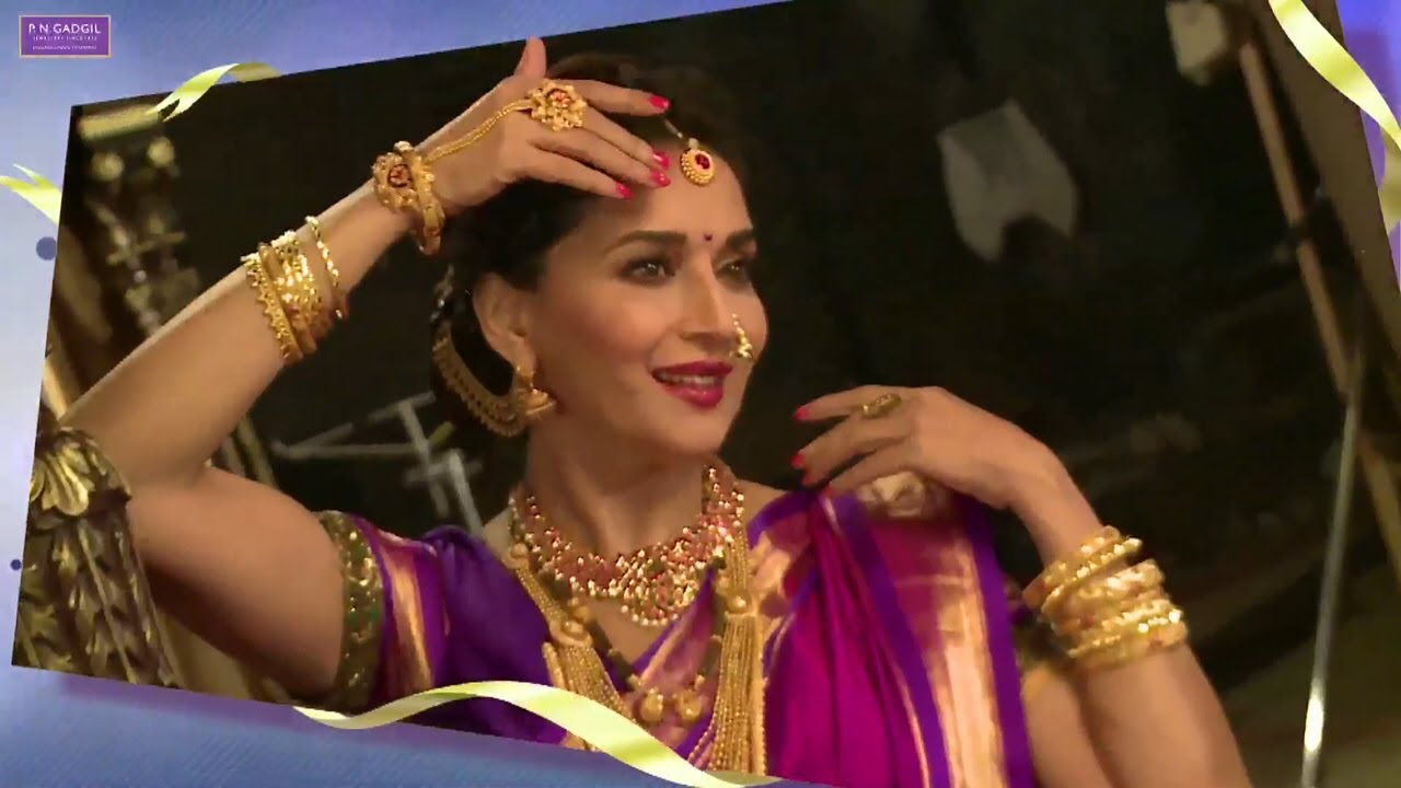 Making of P N Gadgil Jewellers Ad with Madhuri Dixit.