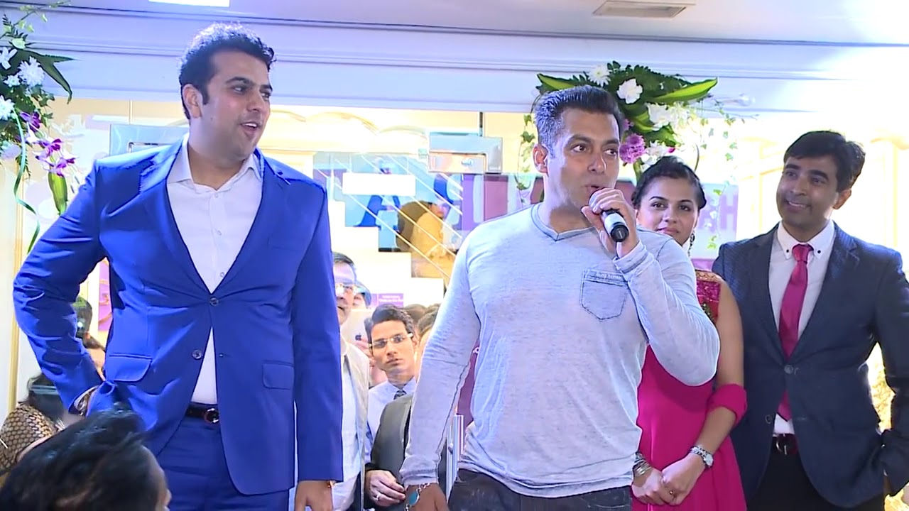 Salman Khan at the launch of PNG Jewellers in Dubai.