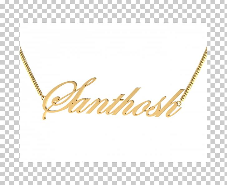 Necklace Charms & Pendants Jewellery Gold Name PNG, Clipart.
