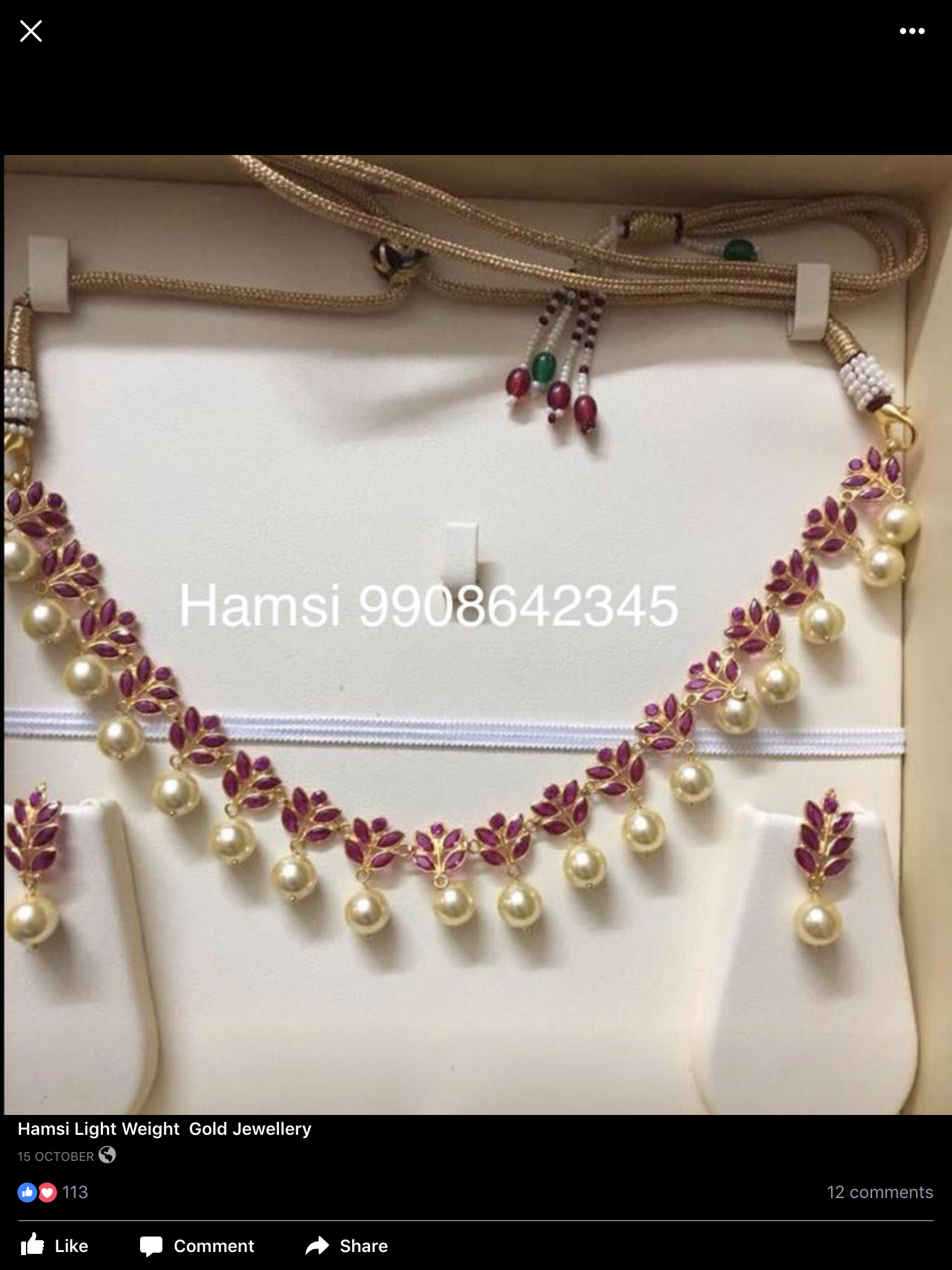 Pin by Bhoomi\'s on light weight jewellery.