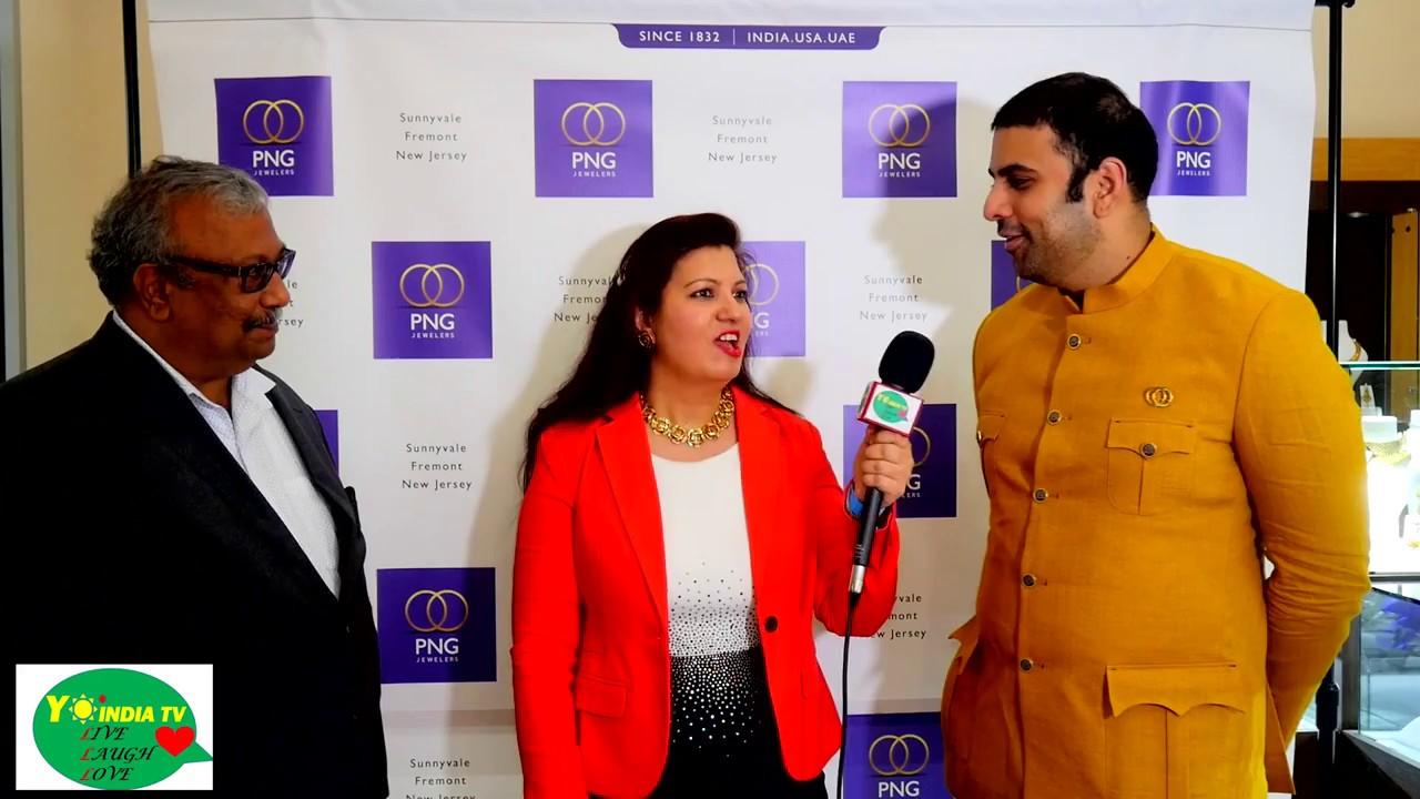 PNG Jewellers Nargis Fakhri event USA Saurabh Gadgil and Rajendra Soni on  Yo India TV.
