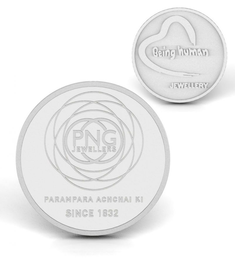 P.n.gadgil Jewellers 20 Gms Being Human & Png Silver Coin.