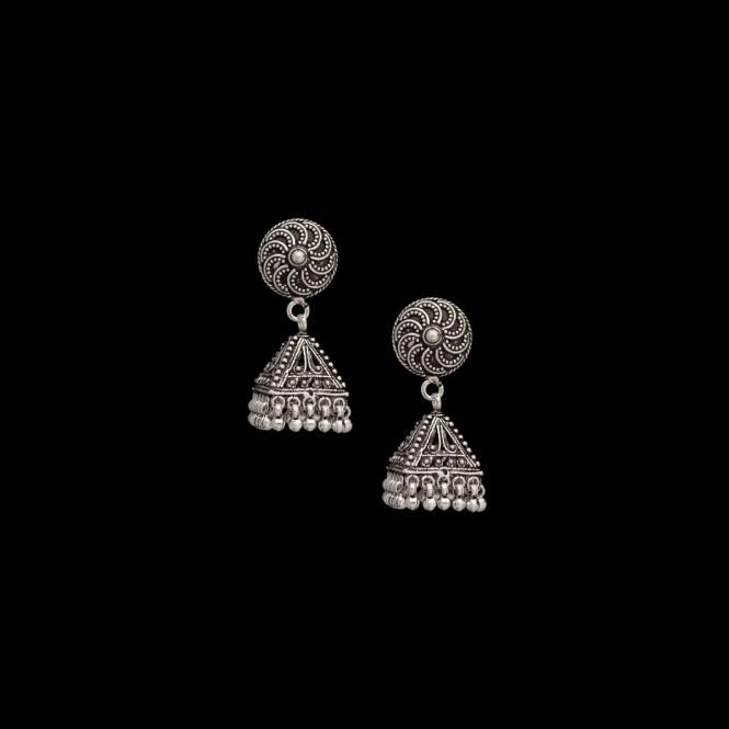 Buy latest silver earrings online for Women in India.