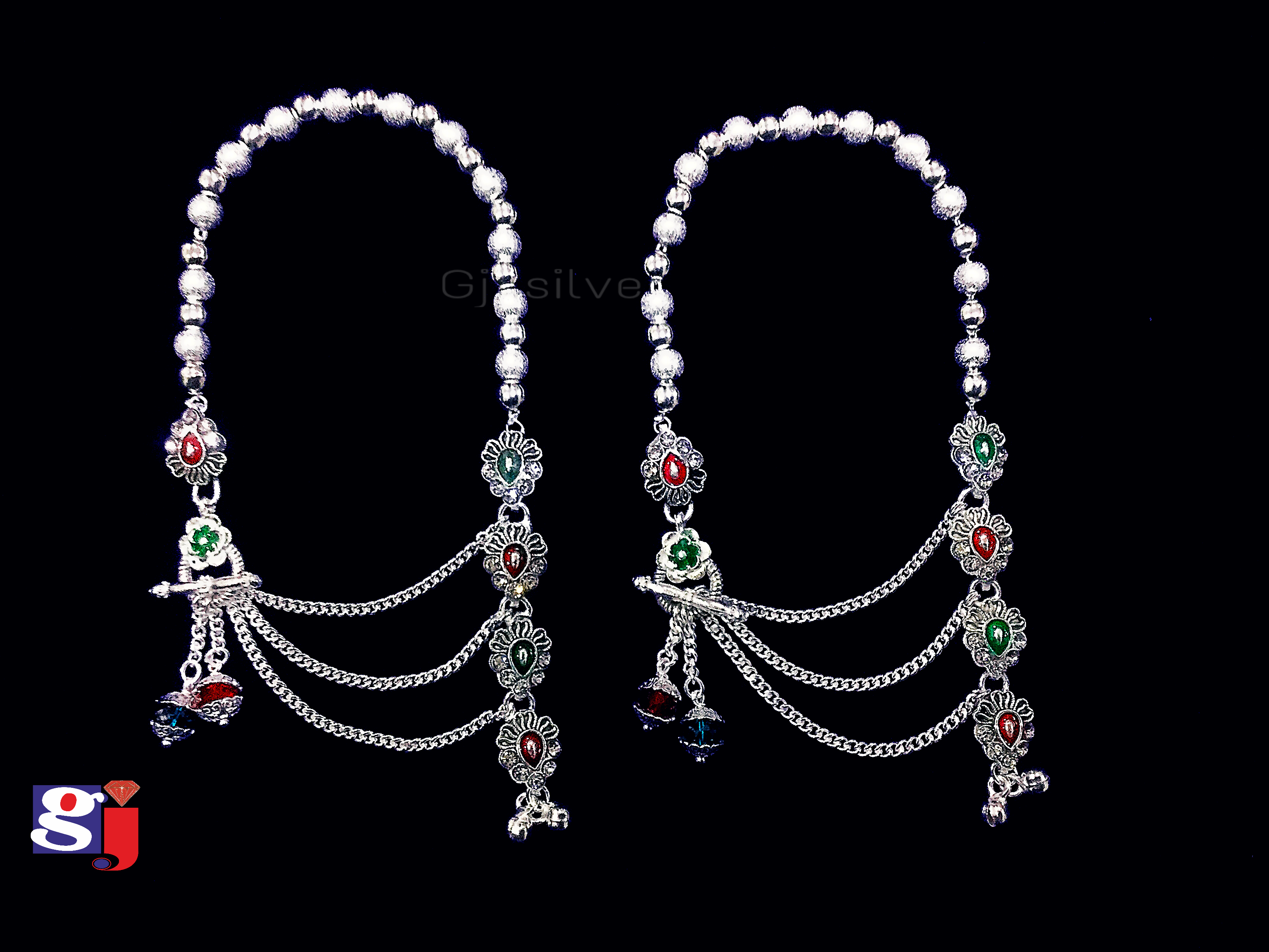 Modern design pair of anklet ! Silver Payal design.