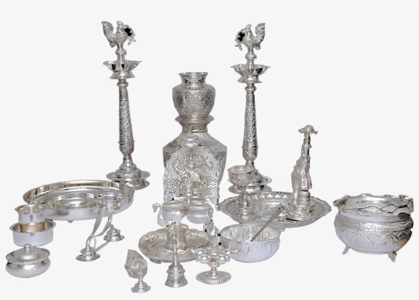 Pooja Set Silver Pooja Items.