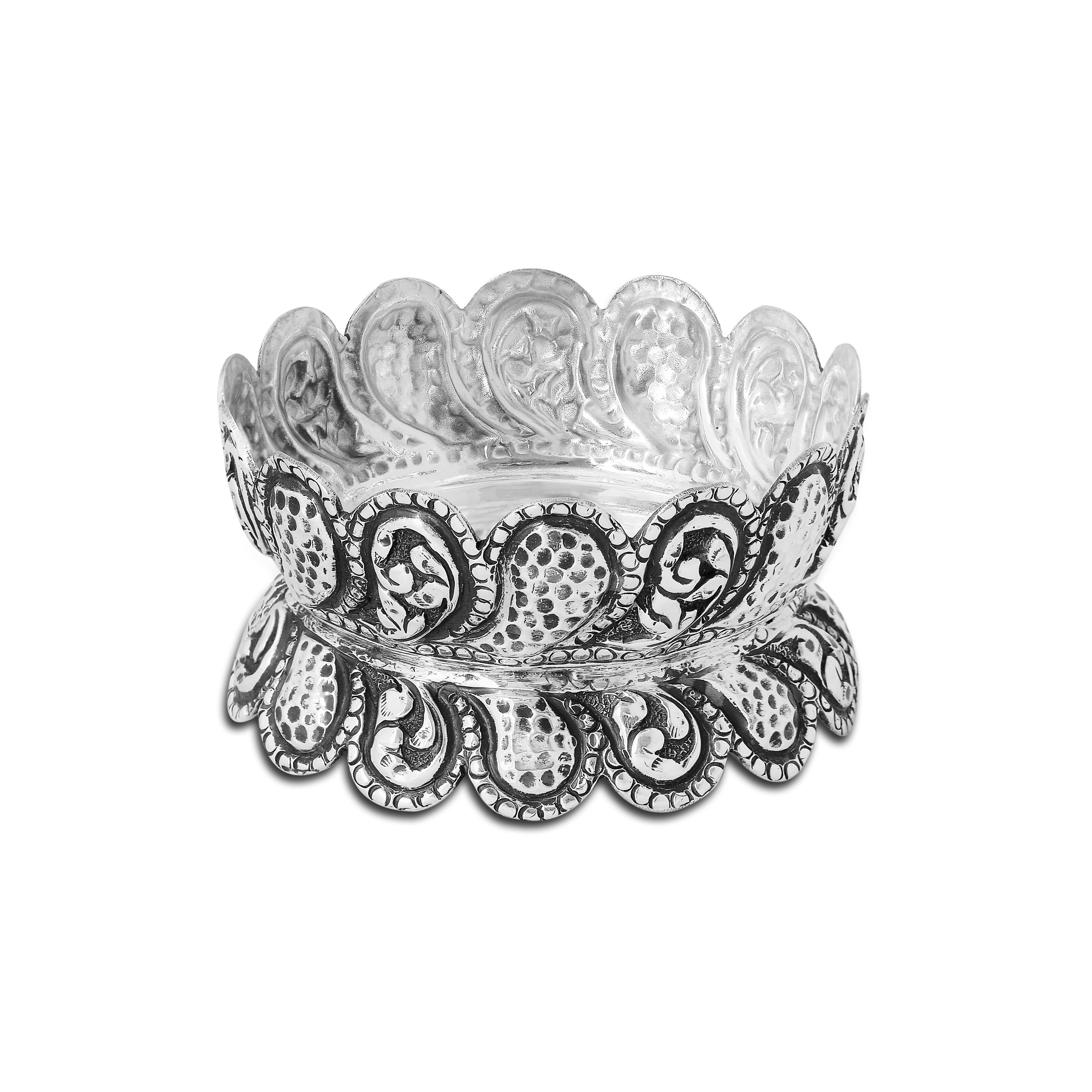 Antique Oxidised Silver Bowl by PNG Jewellers.
