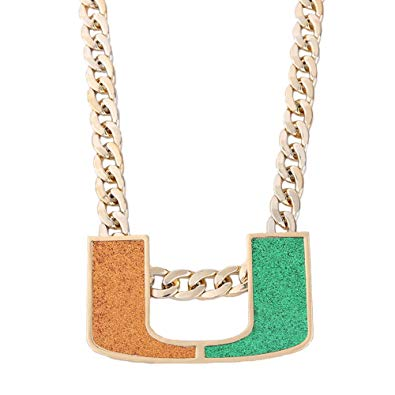 GH Gold Plated Men Jewelry Necklace Miami Turnover Chain, Fans Gift.