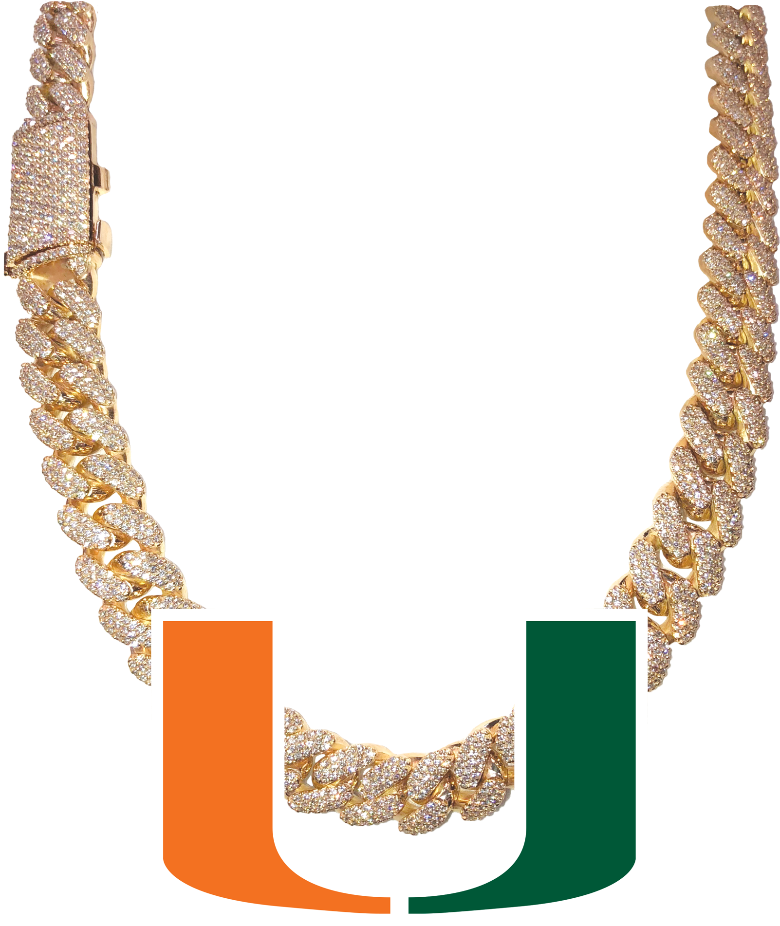 HD King Of Bling Ajs Jewelry Turnover Chain Transparent.