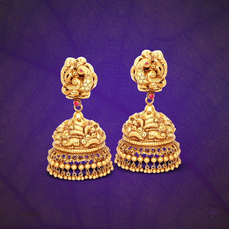 22K Gold Jhumka from GRT.