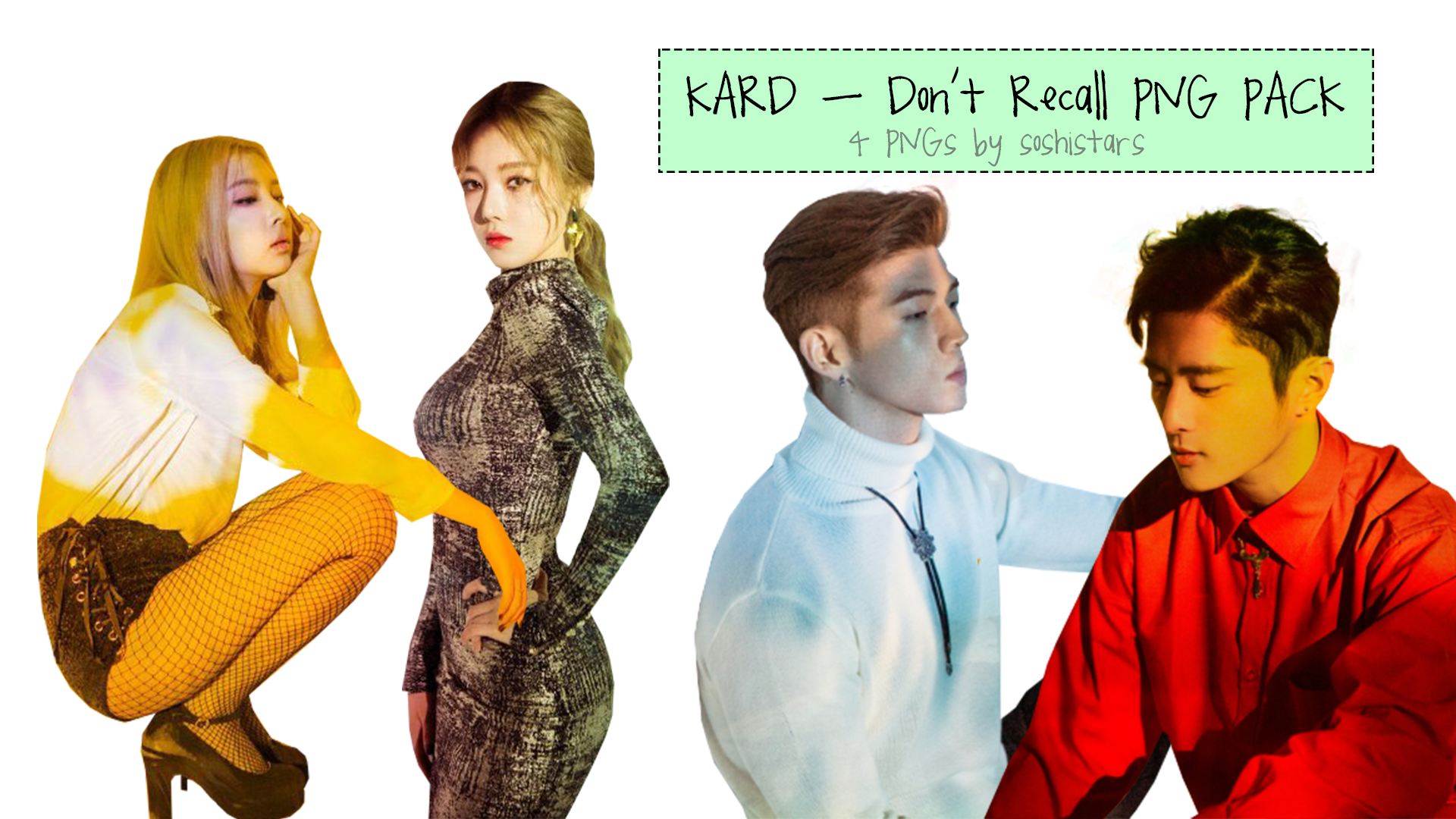 KARD PNG PACK Don\'t Recall by soshistars by soshistars on.
