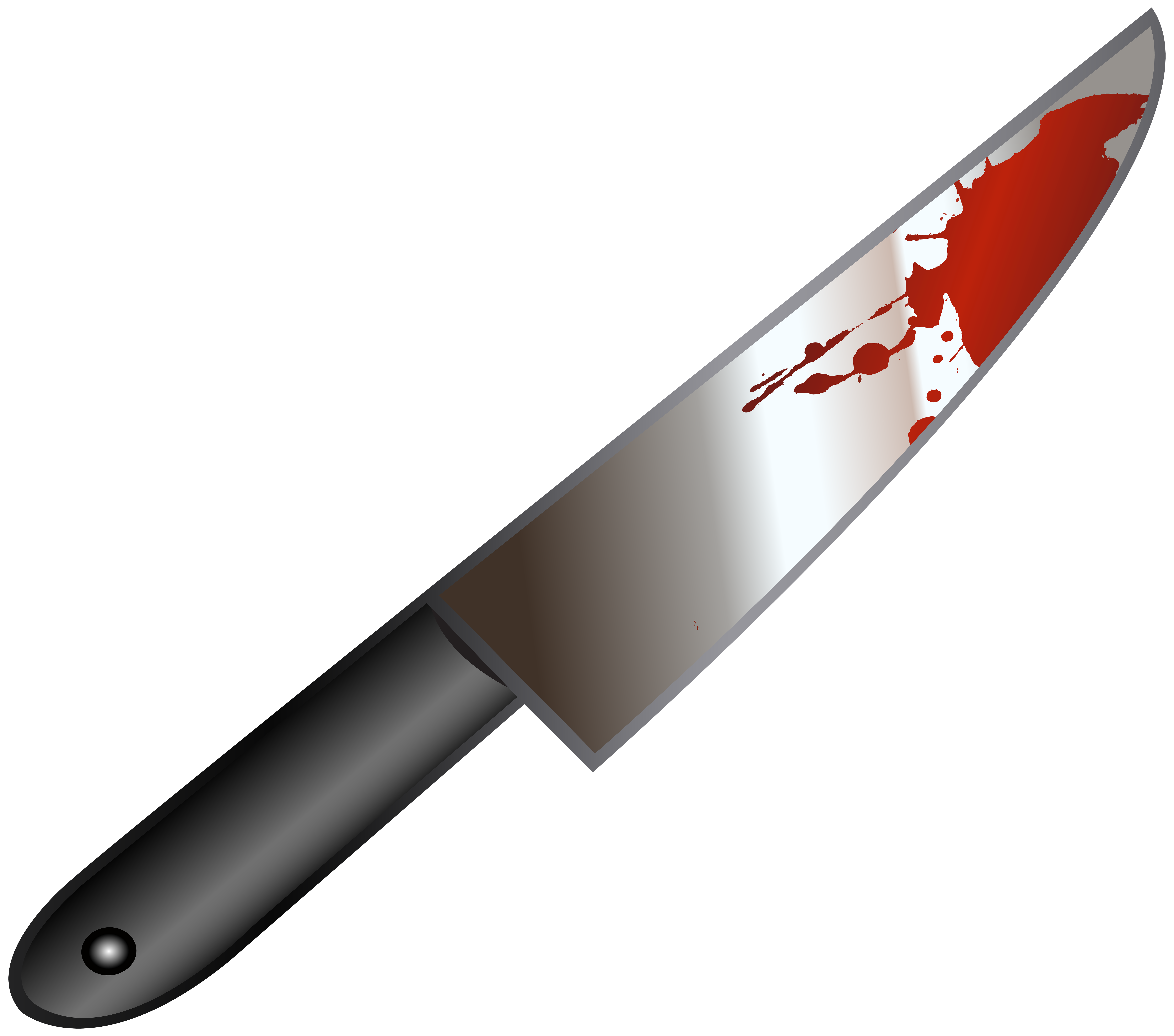 Bloody Knife PNG Clip Art Image.