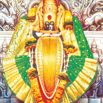 Kolhapur Mahalaxmi Painting PNG Images.