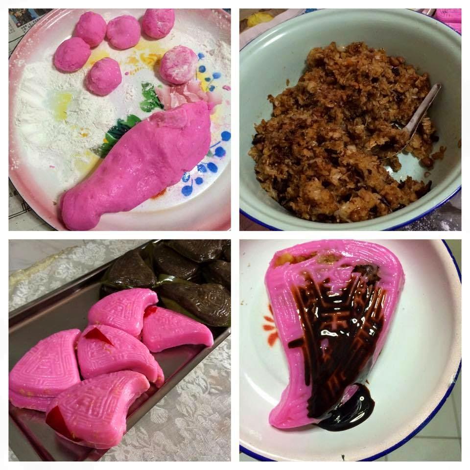 Made traditional Teochew Peng Kueh.