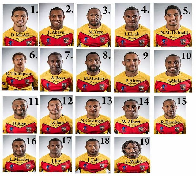 PNG Kumuls named to face France.