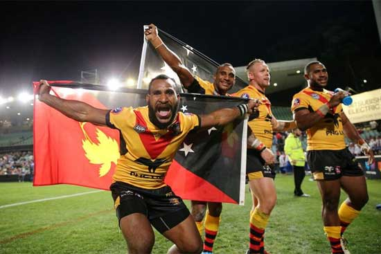 PNG squad for PMXIII clash in Port Moresby on 6th Oct 2018.