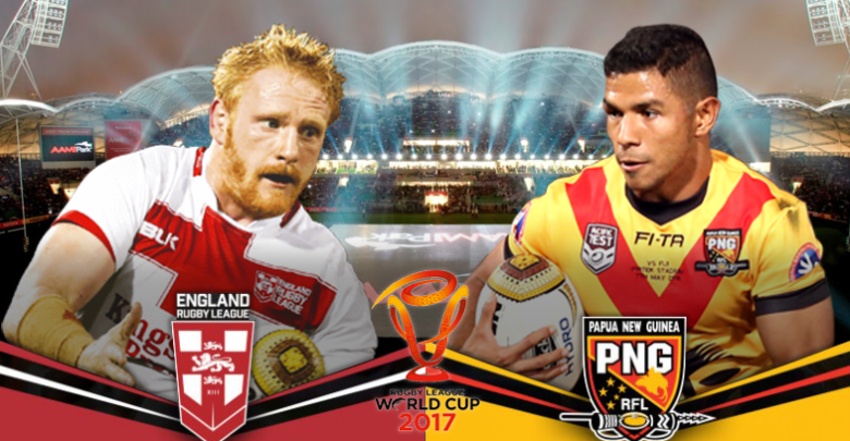 PNG Kumuls vs England Quarter Final Lineups.