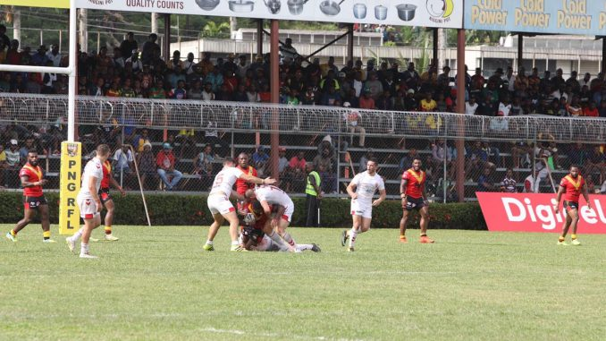 Battling England Knights win in Papua New Guinea.