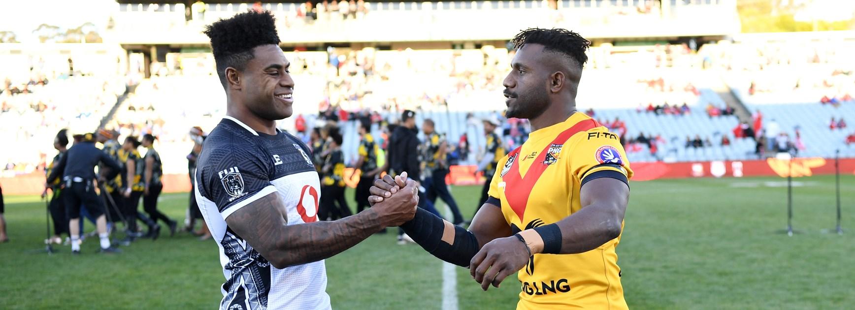 Papua New Guinea stun Fiji with first half blitz.
