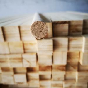 Natural bamboo Lumber for cosmetic brush.