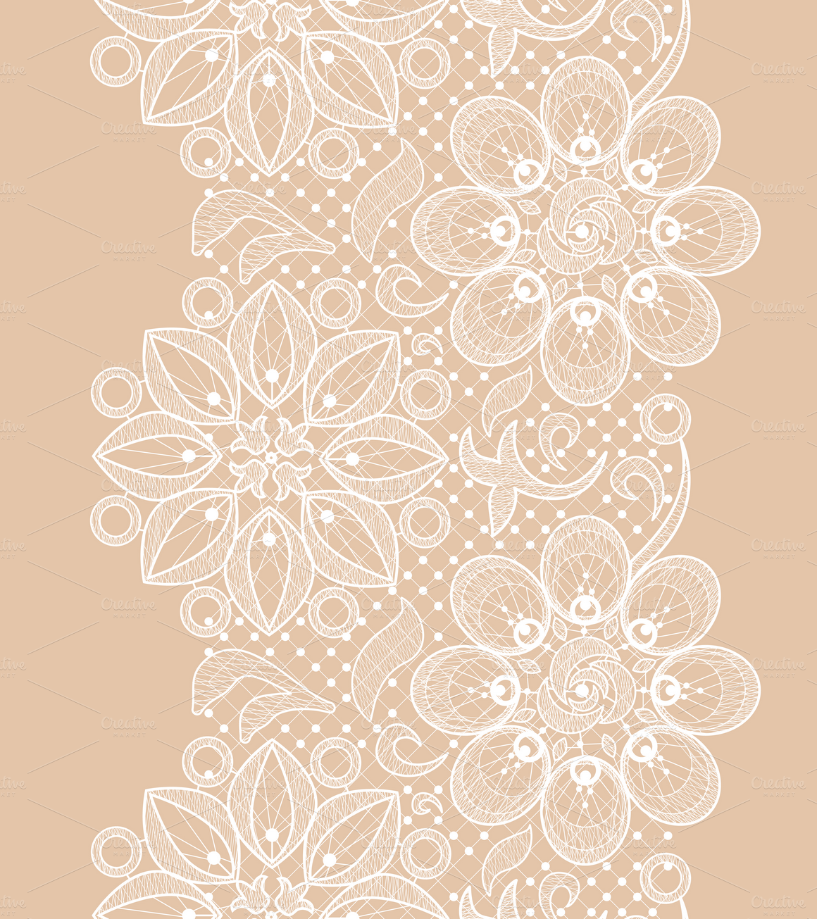 Seamless lace patterns by Macrovector on Creative Market.