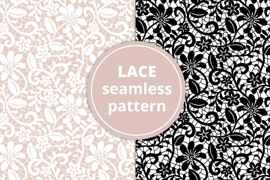 Seamless Lace Pattern.