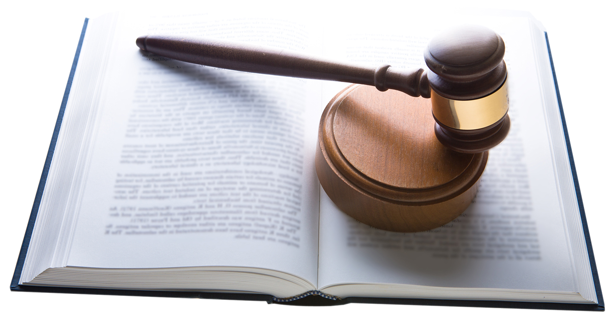 Gavel With Law Book PNG Image.