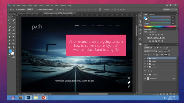 How to export A layer from Adobe Photoshop To a PNG file for.