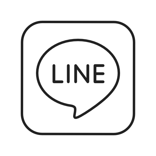 Line Icon Free of Social Media & Logos II Linear Black.