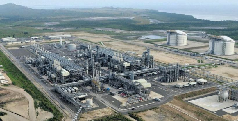 PRODUCTION RESTARTS AT PNG LNG PLANT NEAR PORT MORESBY.