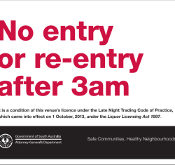 New South Australian Late Night Trading Code of Practice.