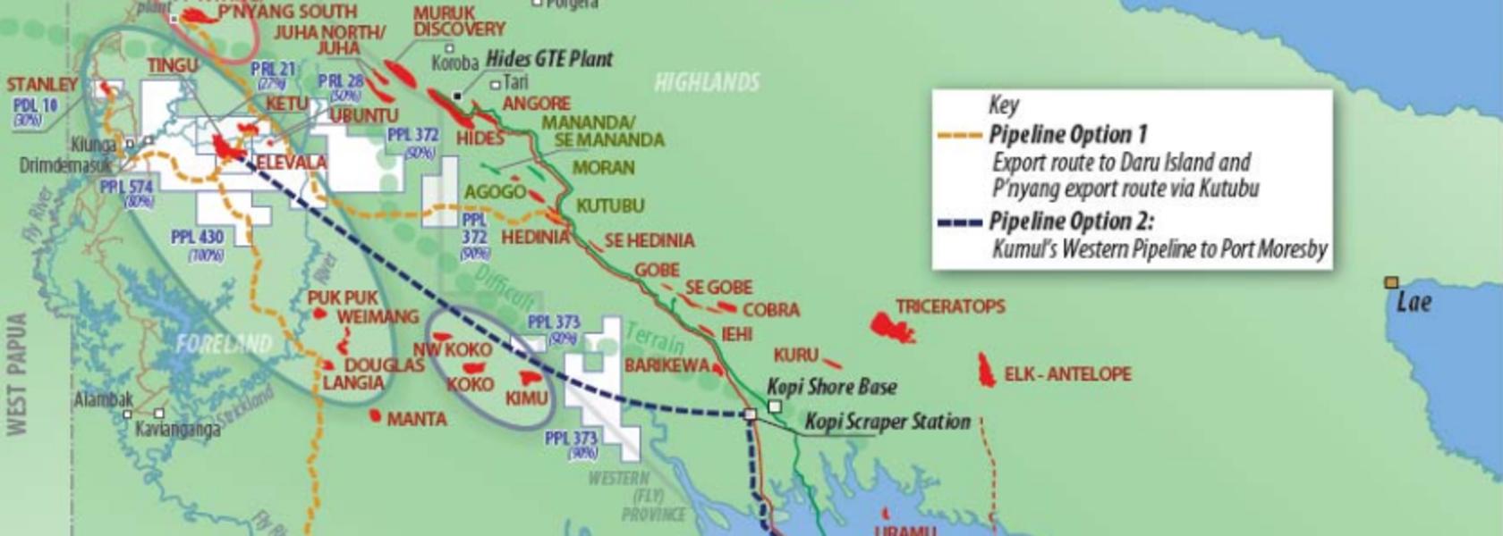 Kumul working on Western Pipeline.