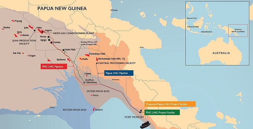 TOTAL SIGN GAS AGREEMENT FOR THE PAPUA LNG PROJECT.