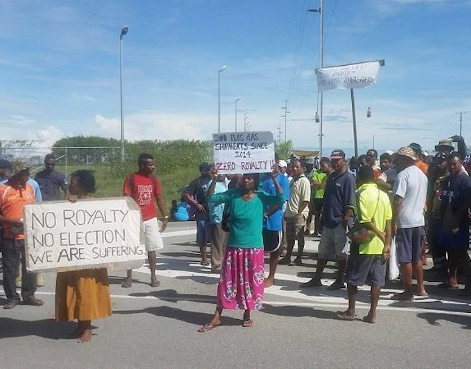Frustrated PNG gas supply landowners protest over non.
