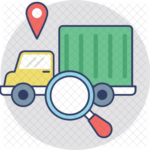 Logistics Tracking Icon of Colored Outline style.