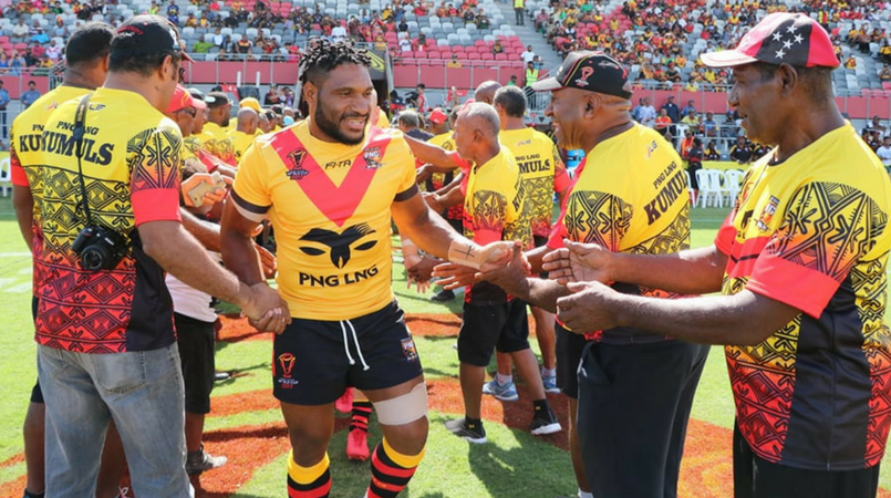 Former players wish Kumuls good luck.