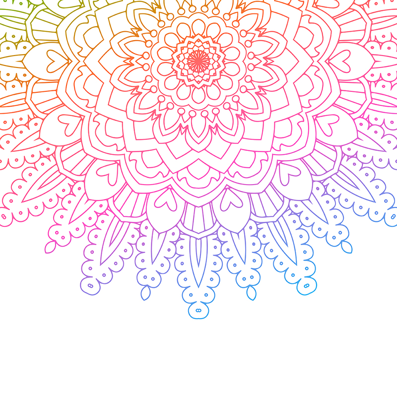 Coloured Mandala Background, Abstract, Trendy, Artwork PNG.