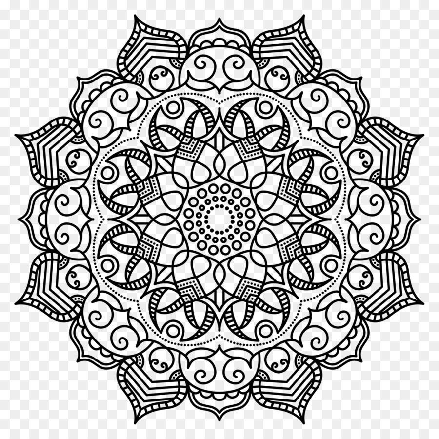 Mandala Coloring Book Meditation Pattern #473209.