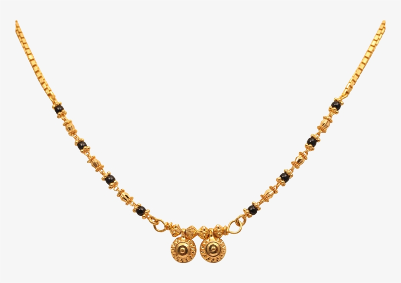 Traditional Small Mangalsutra Designs In Gold Transparent.