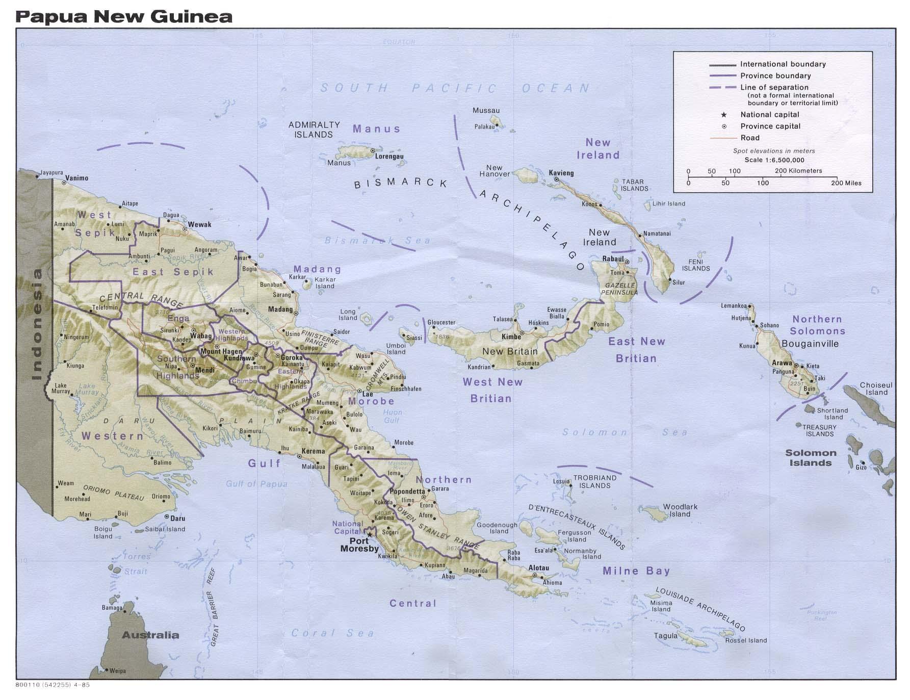 Papua New Guinea Maps.