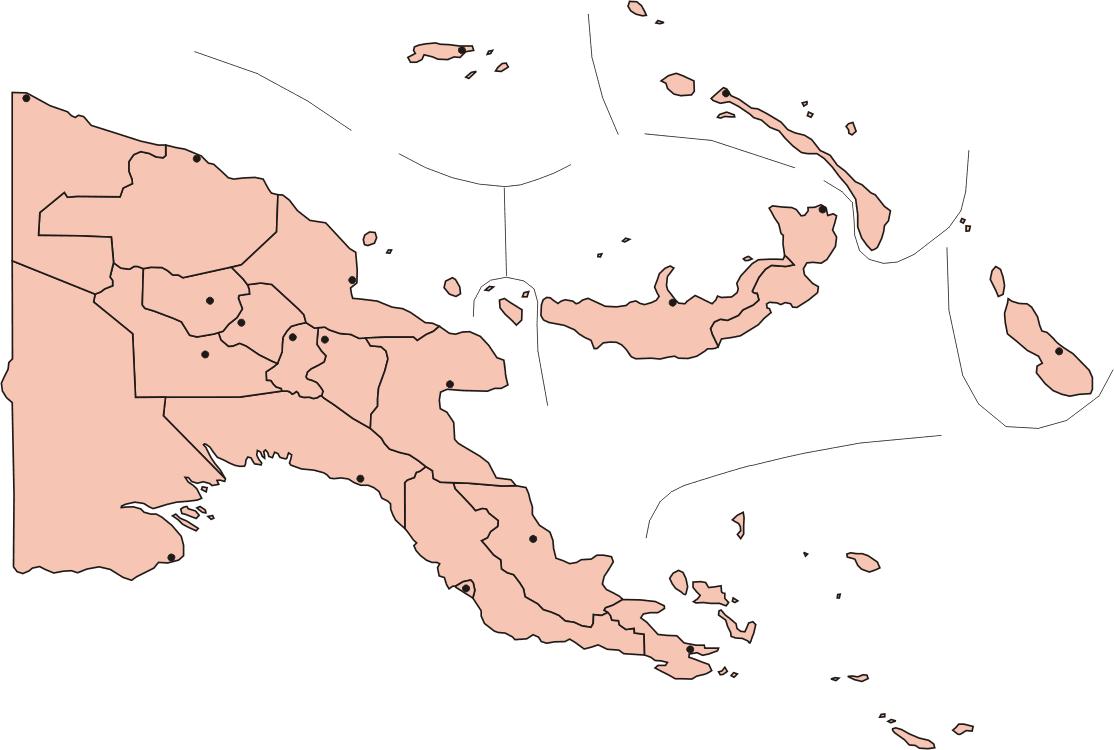 Papua New Guinea Provinces With Capitals • Mapsof.net.