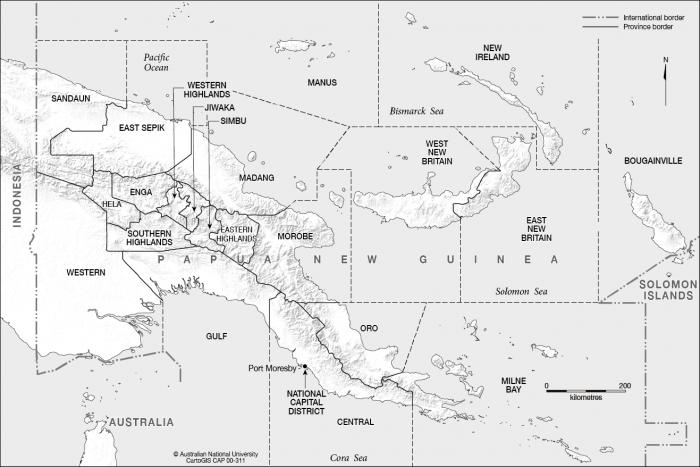 PNG provinces.