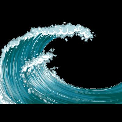 Wave transparent PNG.